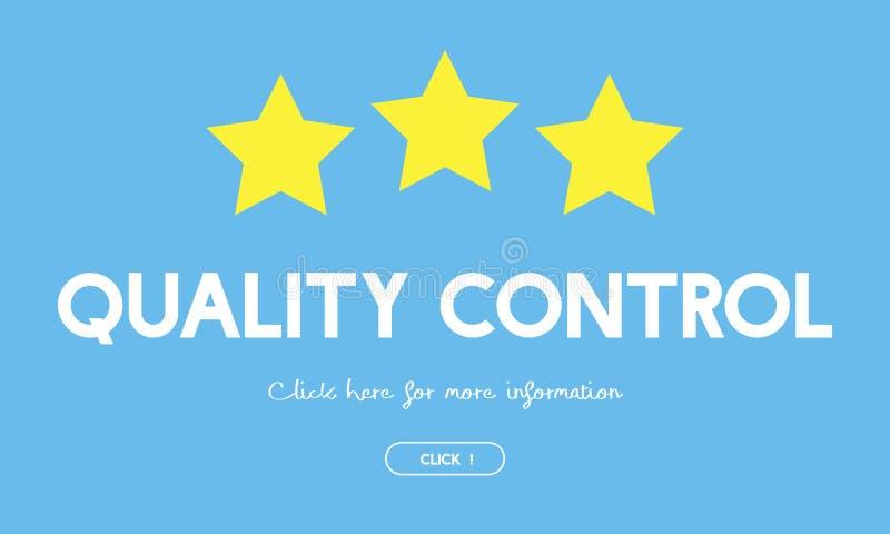 Concept de produit de contrôle de contrôle de qualité illustration stock