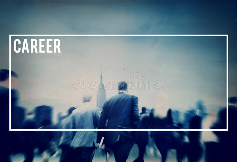 Concept de profession de Job Work Employment Human Resources de carrière image libre de droits