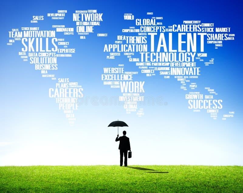 Concept de professionnel de qualifications de génie d'expertise de talent image libre de droits