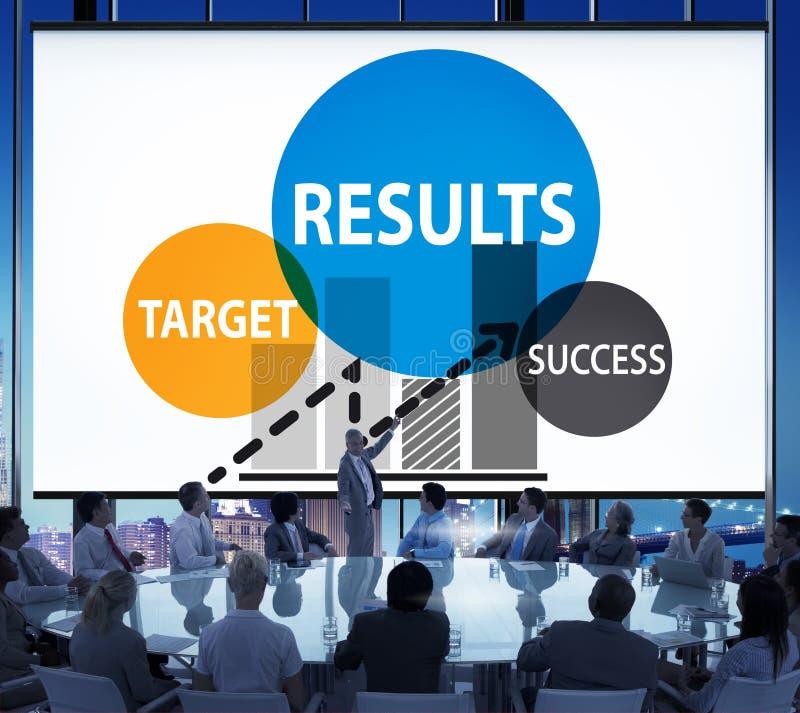 Concept de progrès de stratégie de planification de succès de cible de résultats images stock