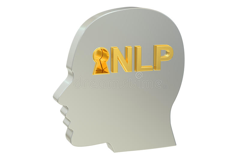concept de programmation Neuro--linguistique de NLP illustration libre de droits