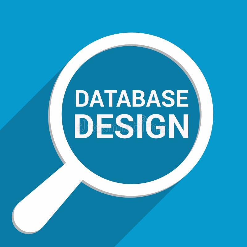 Concept de programmation : Verre optique de agrandissement avec la conception de bases de données de mots illustration libre de droits