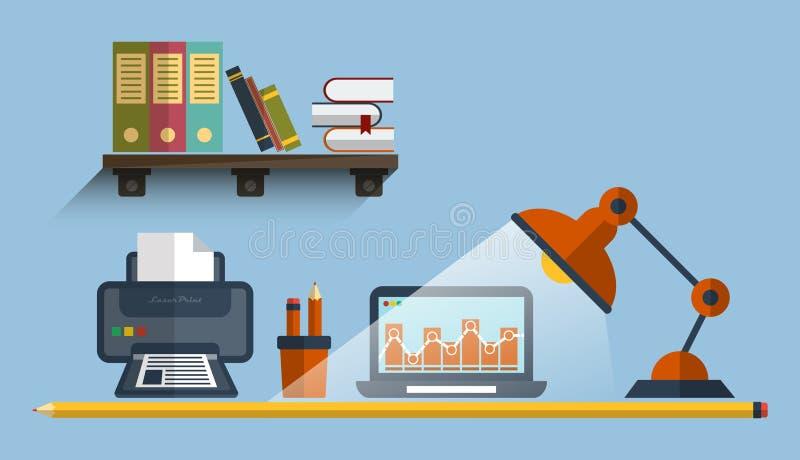 Concept de programmering van proces, Seo-beheer en de optimalisering van het websiteonderzoek vector illustratie