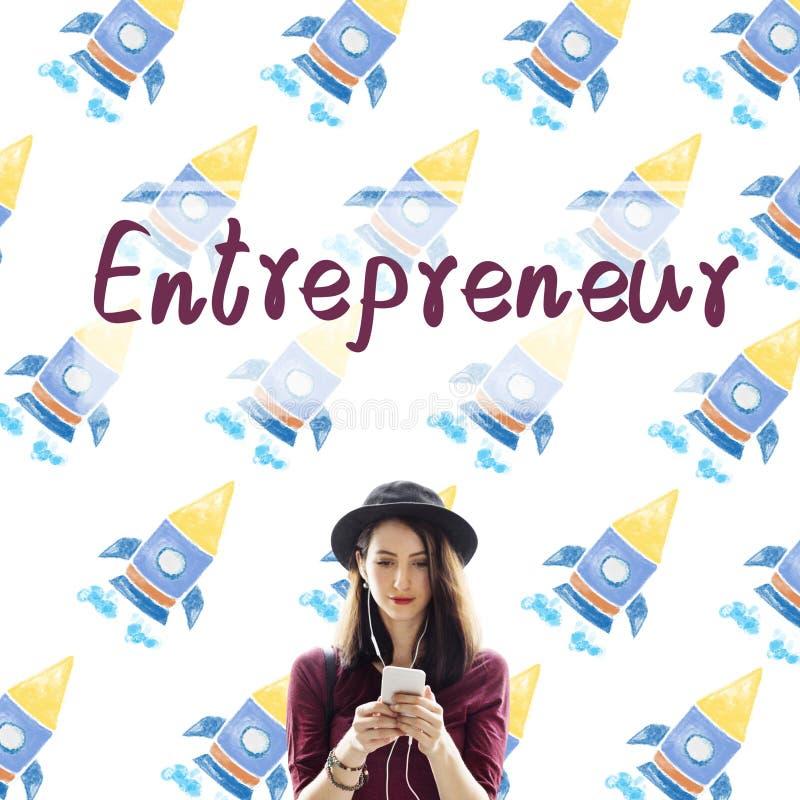 Concept de promoteur de Business Risk Startup d'entrepreneur image stock