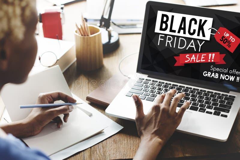 Concept de promotion des prix de remise de Black Friday demi images stock