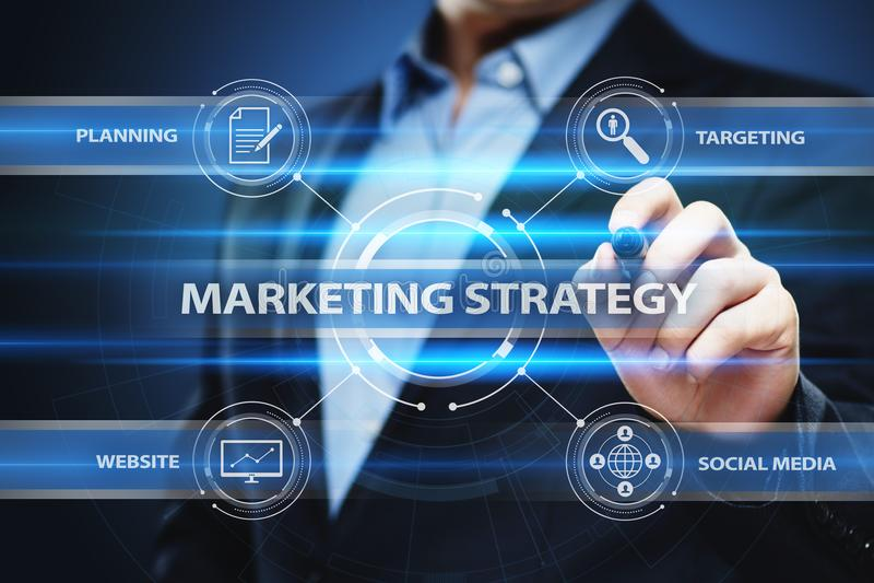 Concept de promotion de plan de la publicité d'affaires de stratégie marketing image stock
