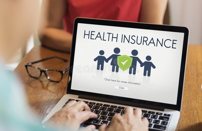 Concept de protection de remboursement d'assurance de famille images libres de droits