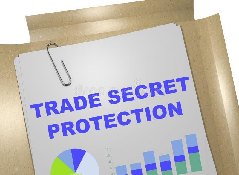 Concept de protection de secret commercial illustration libre de droits