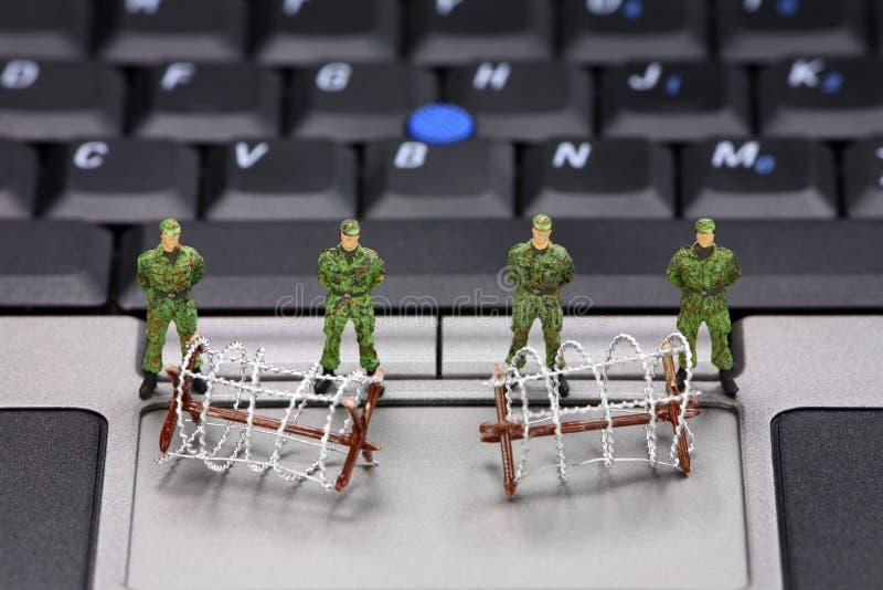 Concept de protection des données d'ordinateur photos libres de droits