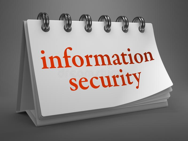 Concept de protection des données sur le calendrier de bureau. illustration libre de droits