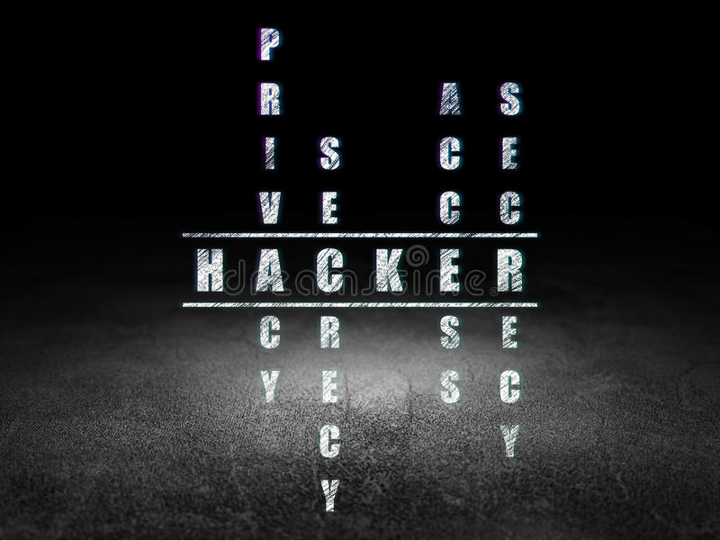 Concept de protection : pirate informatique de mot dans la solution illustration stock