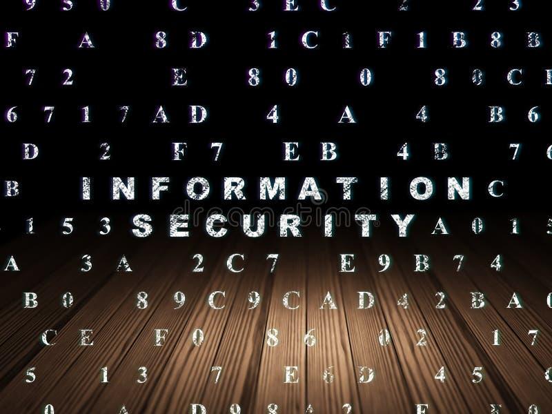 Concept de protection : Protection des données dans le grunge illustration de vecteur
