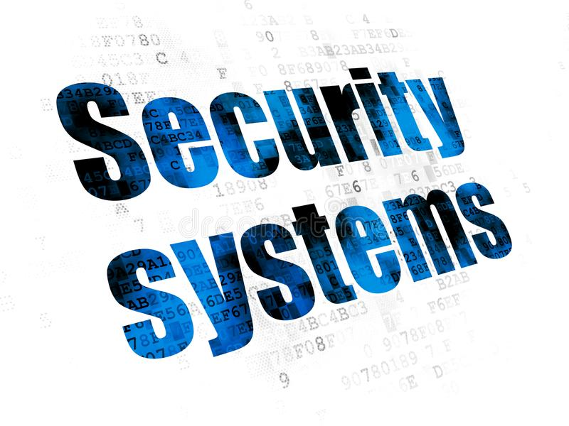 Concept de protection : Systèmes de sécurité sur le fond de Digital illustration libre de droits