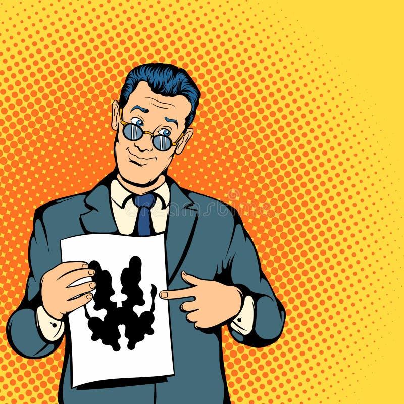 Concept de psychologue, style de bandes dessinées illustration de vecteur
