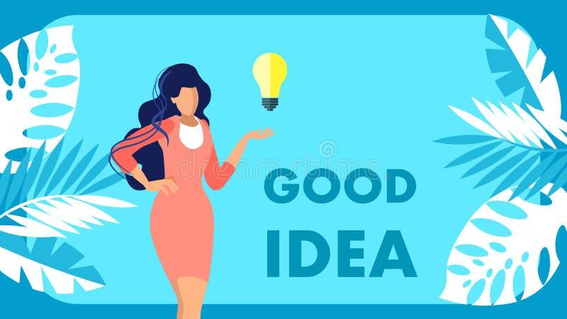 Concept de publicité plat de bannière d'office des brevets illustration de vecteur