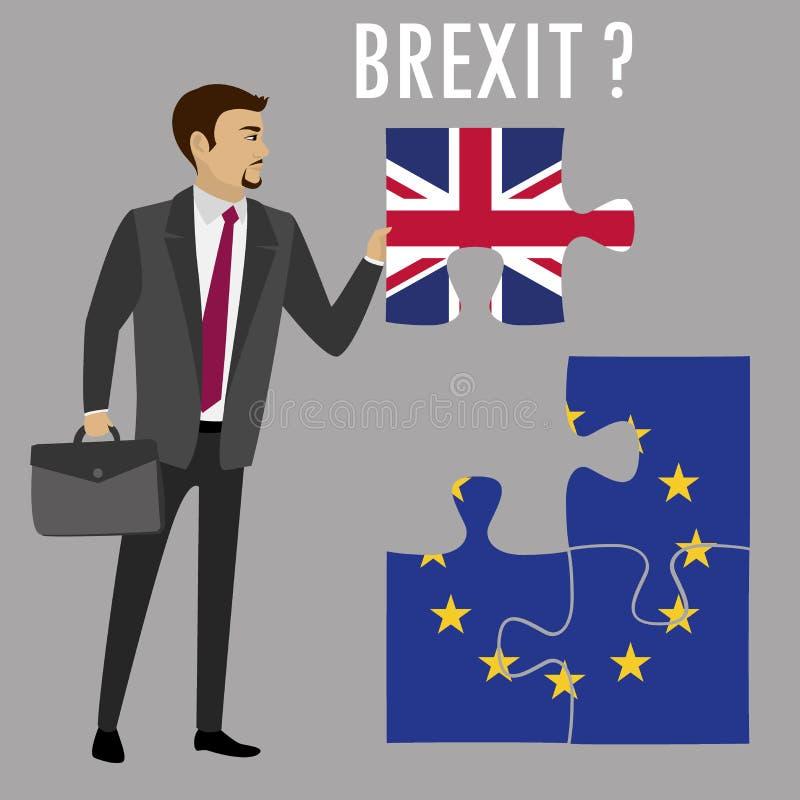 Concept de puzzle de Brexit illustration de vecteur