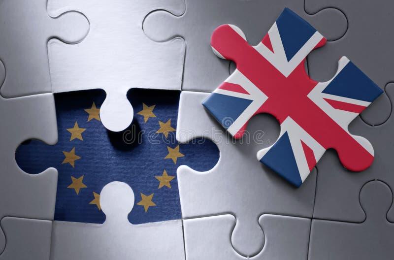 Concept de puzzle denteux de Brexit photos libres de droits