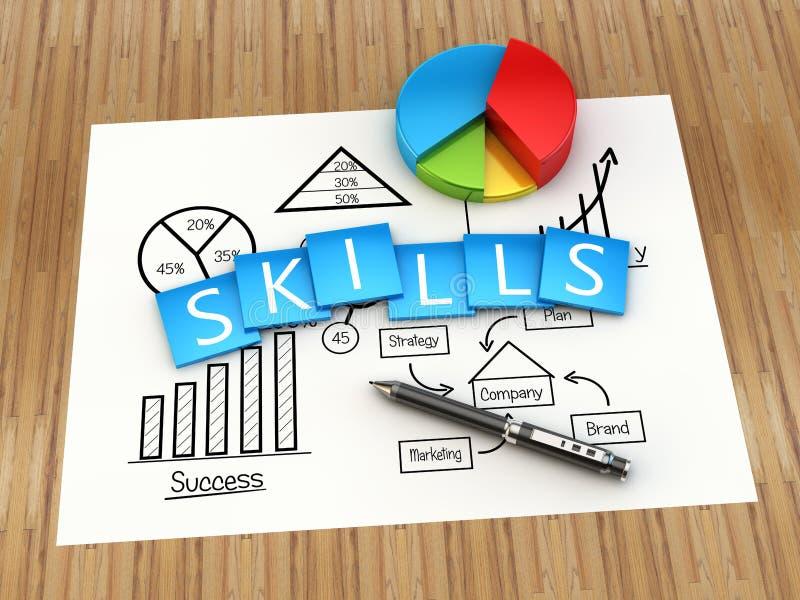 Concept de qualifications d'affaires illustration stock
