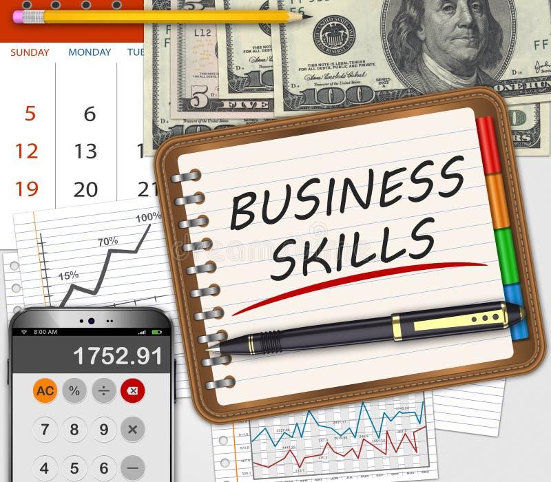 Concept de qualifications d'affaires illustration libre de droits