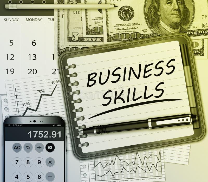 Concept de qualifications d'affaires illustration de vecteur