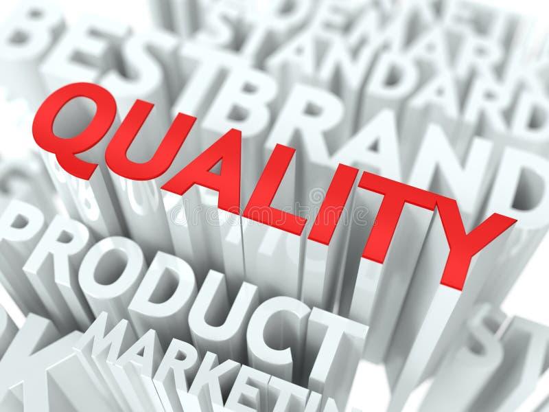 Concept de qualité. illustration de vecteur