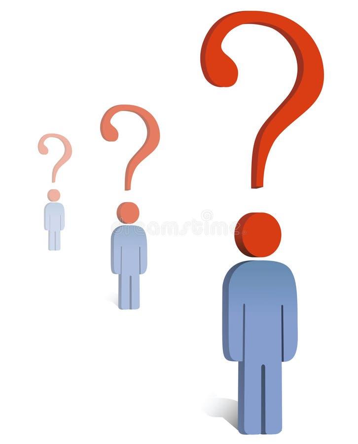 Concept de question illustration stock