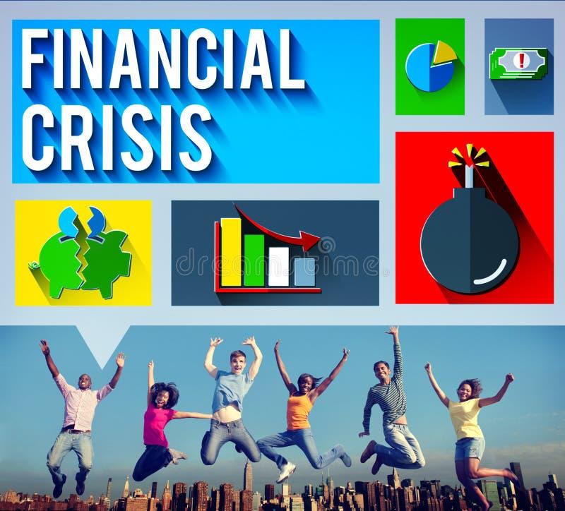 Concept de question d'argent de problème de crise financière photos libres de droits