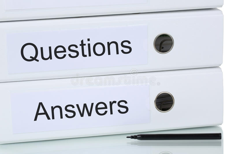Concept de questions et réponses d'affaires photographie stock libre de droits