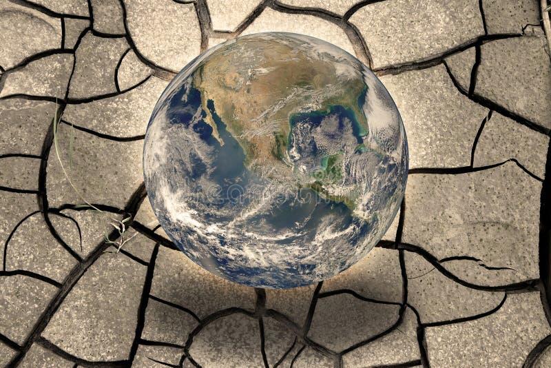 Concept de réchauffement global - composition en photo avec l'image de la NASA photographie stock libre de droits