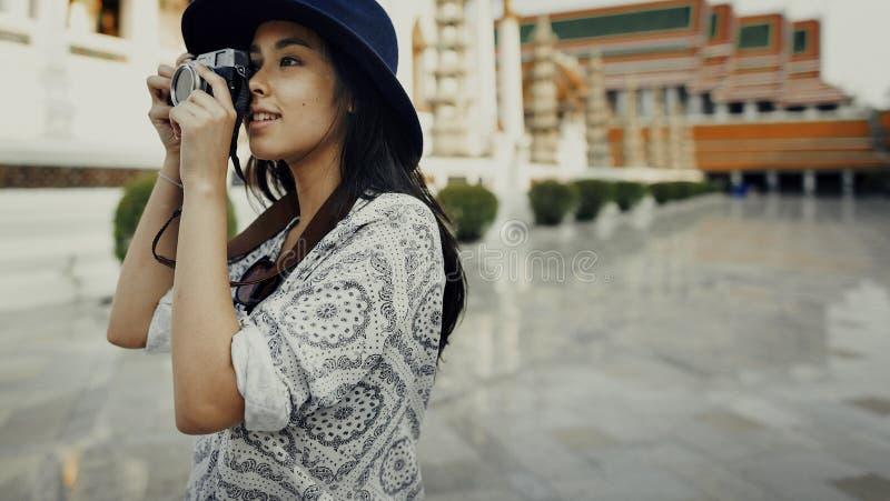 Concept de récréation de passe-temps de Travel Sightseeing Wander de photographe images libres de droits
