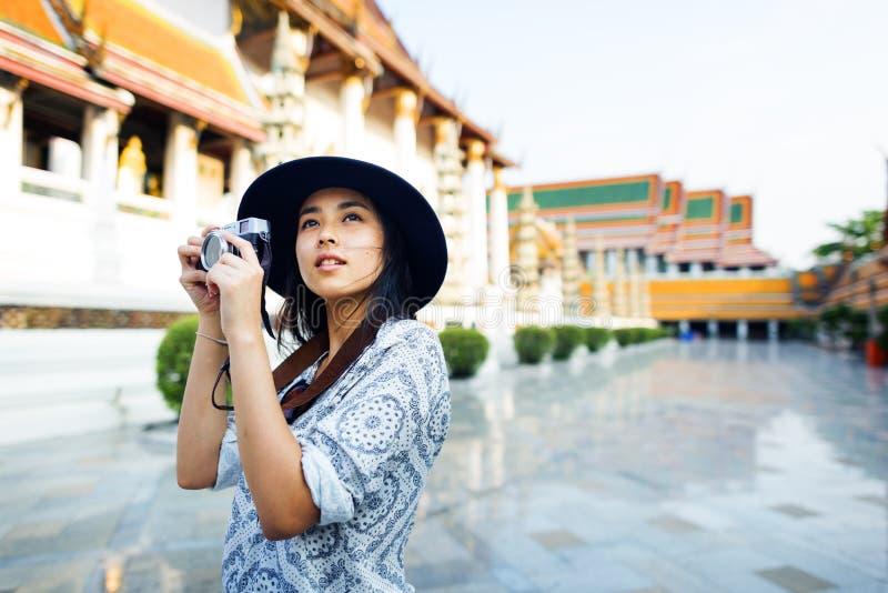 Concept de récréation de passe-temps de Travel Sightseeing Wander de photographe photographie stock libre de droits