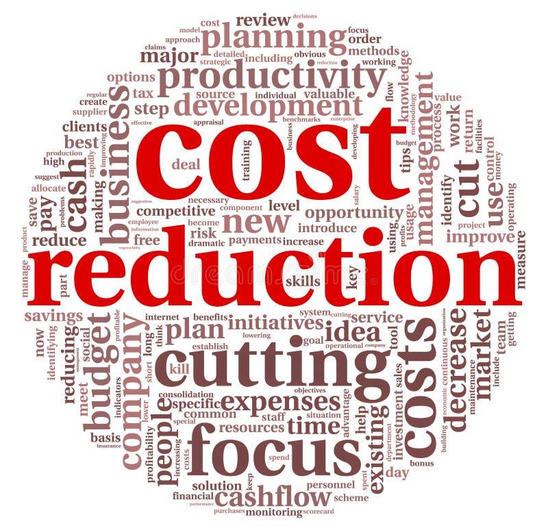 Concept de réduction des coûts illustration libre de droits
