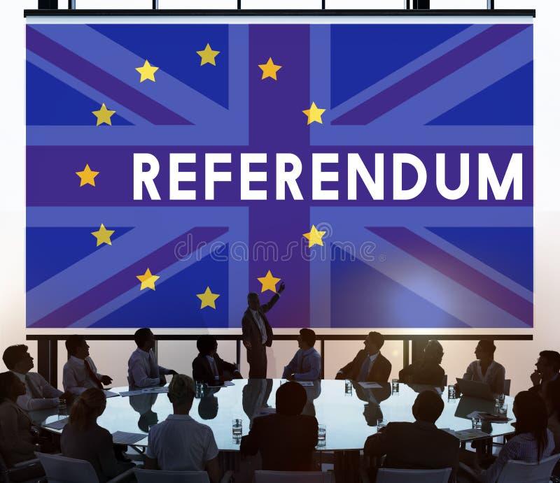Concept de référendum d'UE Brexit de la Grande-Bretagne images libres de droits
