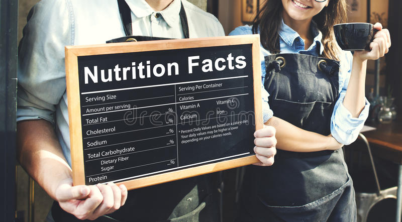Concept de régime alimentaire d'Eatting de médecine de santé de faits de nutrition photos libres de droits