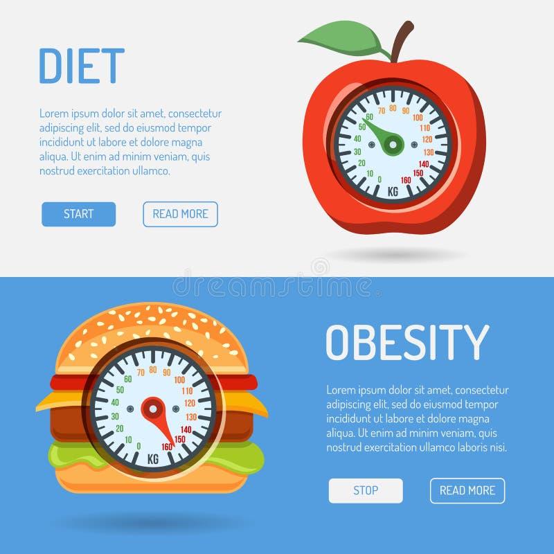 Concept de régime et d'obésité illustration libre de droits