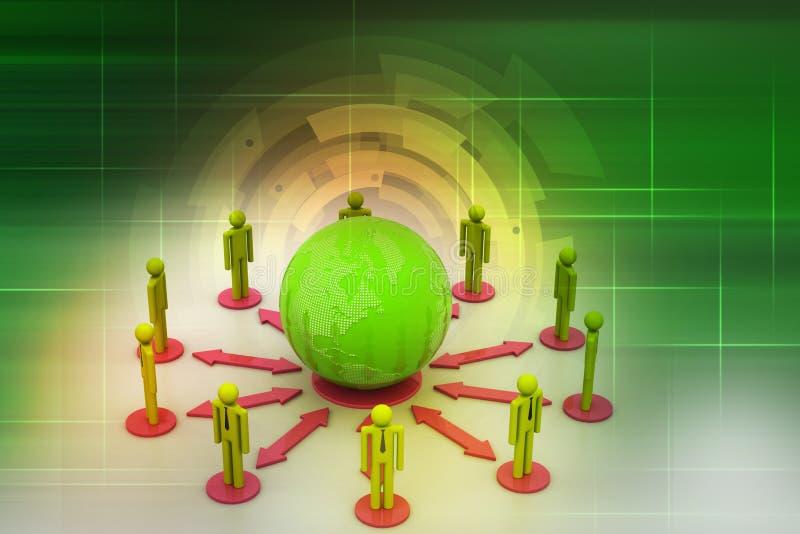 Concept de réseau d'affaires globales photo libre de droits