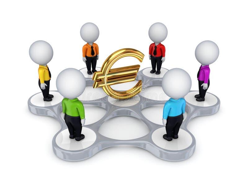 Concept de réseau de Bisiness. illustration stock