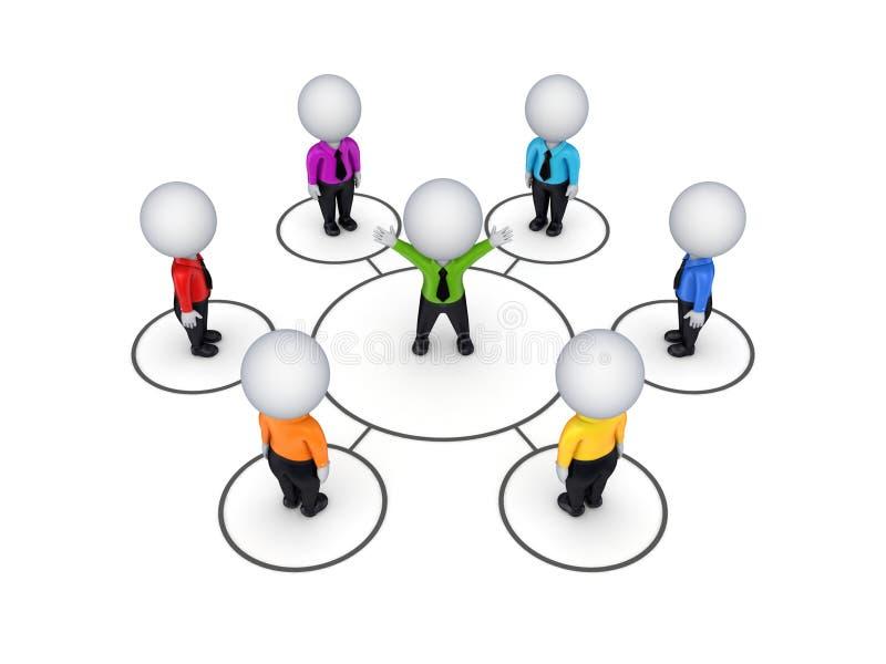 Concept de réseau de Biusiness. illustration libre de droits