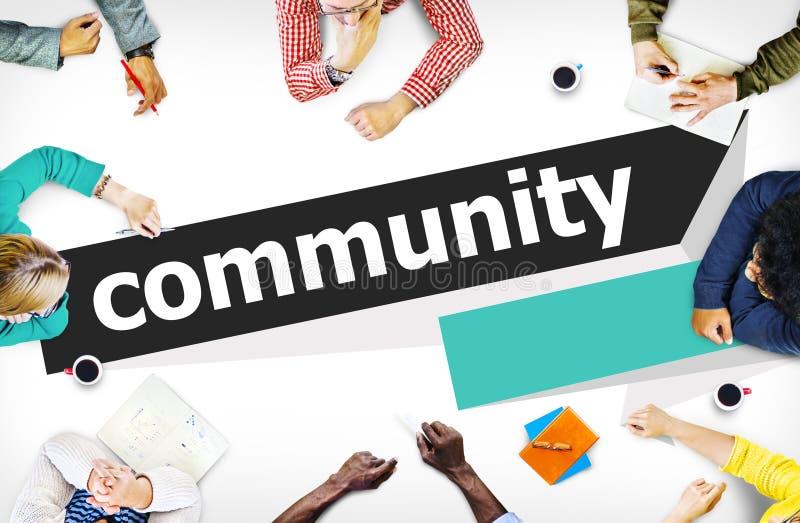 Concept de réseau de groupe de connexion de citoyen de la Communauté photo libre de droits