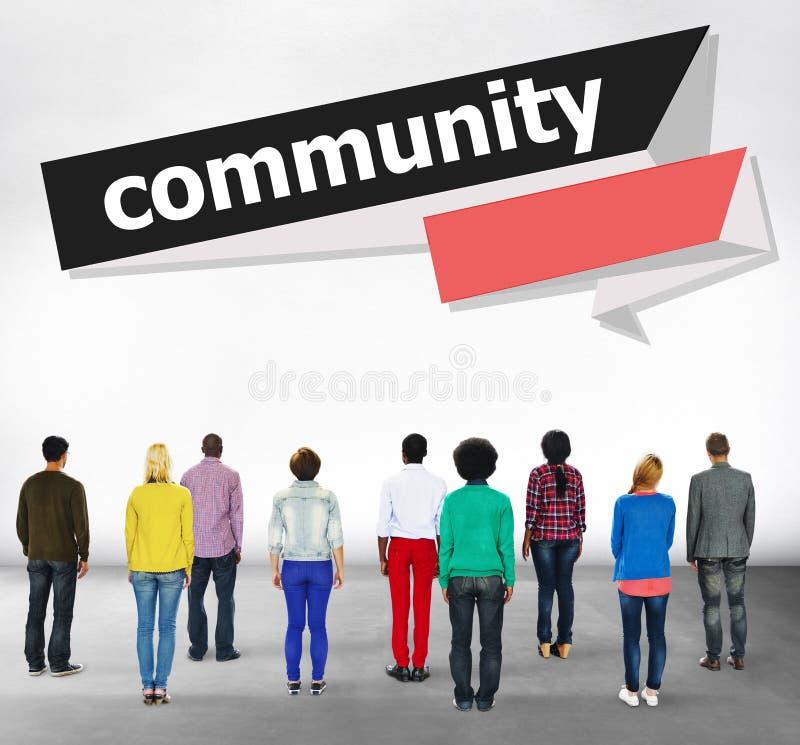 Concept de réseau de groupe de connexion de citoyen de la Communauté image libre de droits