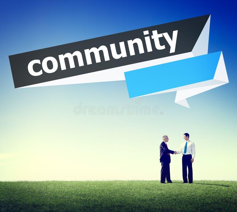Concept de réseau de groupe de connexion de citoyen de la Communauté photos libres de droits