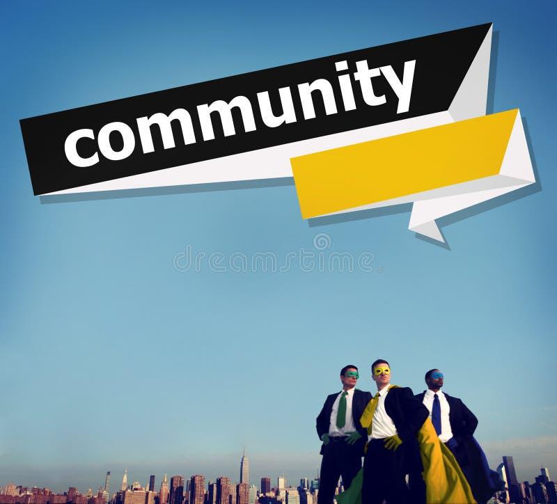 Concept de réseau de groupe de connexion de citoyen de la Communauté photos stock