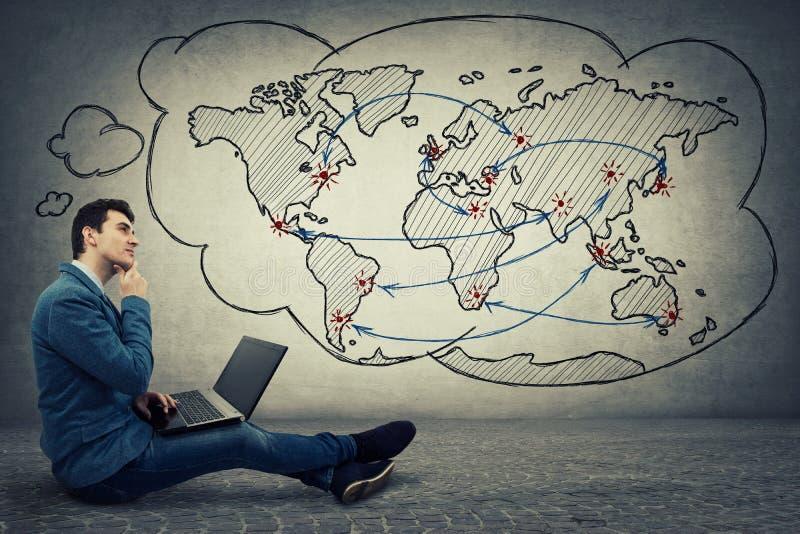 Concept de réseau global images libres de droits