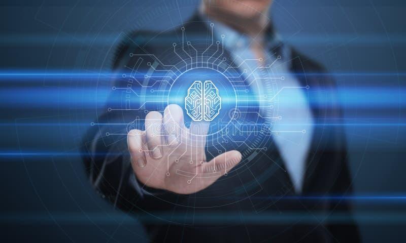 Concept de réseau Internet de technologie d'affaires d'apprentissage automatique de l'intelligence AI de Digital Brain Artificial photos libres de droits