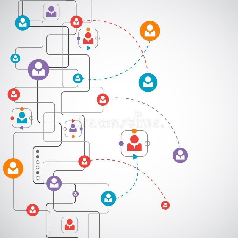 Concept de réseau/media social illustration de vecteur