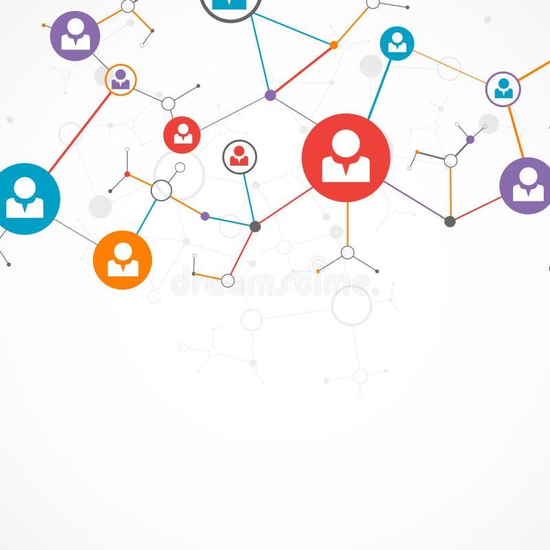 Concept de réseau/media social illustration libre de droits