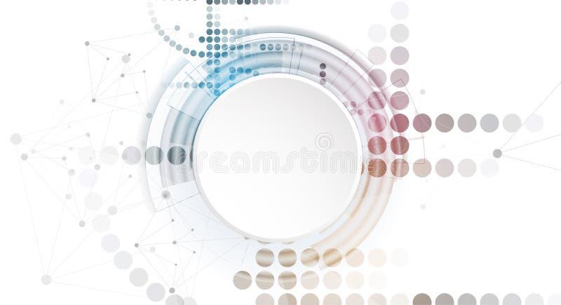 Concept de réseau neurologique Cellules reliées avec des liens Haut technol illustration stock