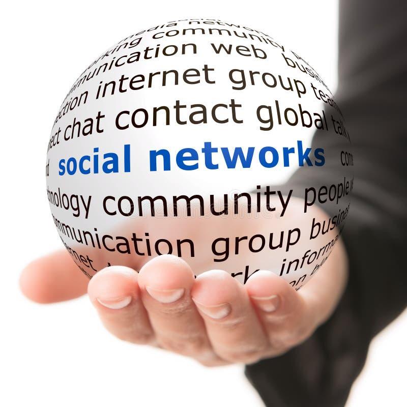 Concept de réseau social images stock
