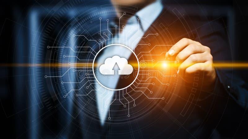 Concept de réseau de stockage d'Internet de technologie informatique de nuage photo libre de droits