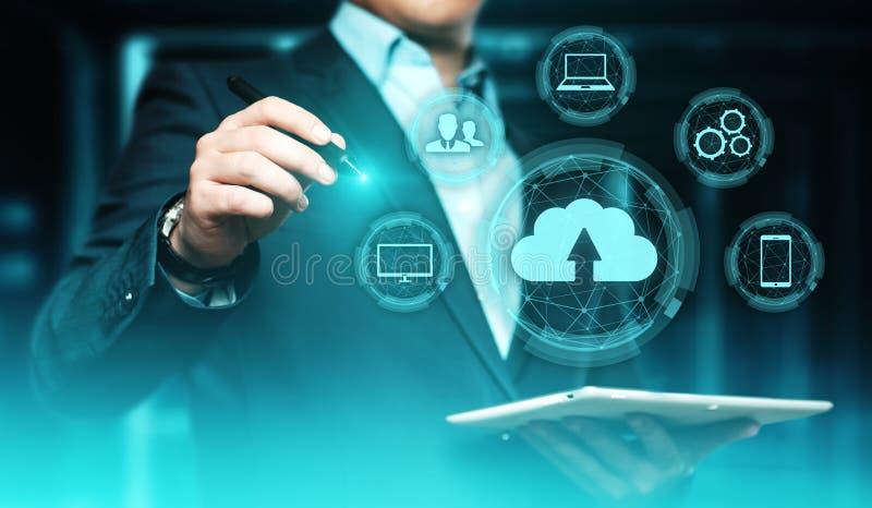 Concept de réseau de stockage d'Internet de technologie informatique de nuage photographie stock libre de droits